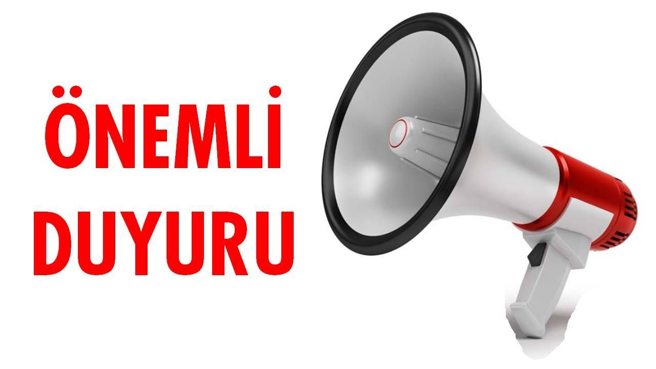 Sayın Sınav Katılımcının Dikkatine!!